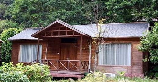 在景区的木屋