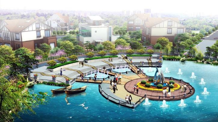 紹興鴻博防腐木水上親水平臺設計施工